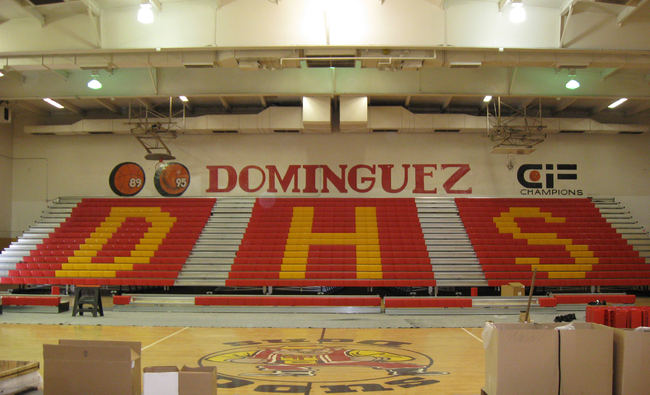 Modular Classroom California ~ Dominguez high school bleachers villarruel architects inc